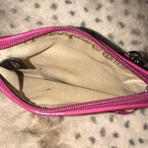 Coach Bags - Authentic pink heart coach wristlet